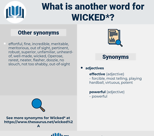 wicked, synonym wicked, another word for wicked, words like wicked, thesaurus wicked