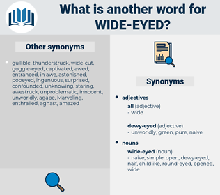 wide-eyed, synonym wide-eyed, another word for wide-eyed, words like wide-eyed, thesaurus wide-eyed