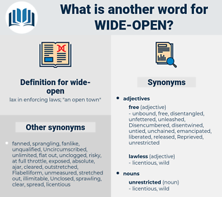 wide-open, synonym wide-open, another word for wide-open, words like wide-open, thesaurus wide-open