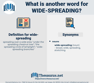 wide-spreading, synonym wide-spreading, another word for wide-spreading, words like wide-spreading, thesaurus wide-spreading