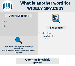 widely spaced, synonym widely spaced, another word for widely spaced, words like widely spaced, thesaurus widely spaced