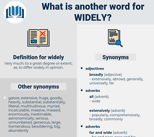 widely, synonym widely, another word for widely, words like widely, thesaurus widely