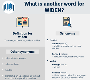 widen, synonym widen, another word for widen, words like widen, thesaurus widen