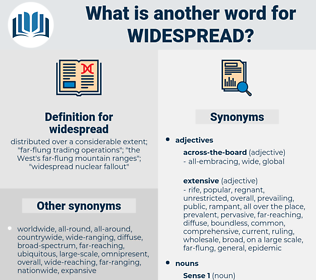 widespread, synonym widespread, another word for widespread, words like widespread, thesaurus widespread