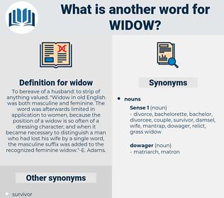 widow, synonym widow, another word for widow, words like widow, thesaurus widow