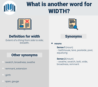 width, synonym width, another word for width, words like width, thesaurus width