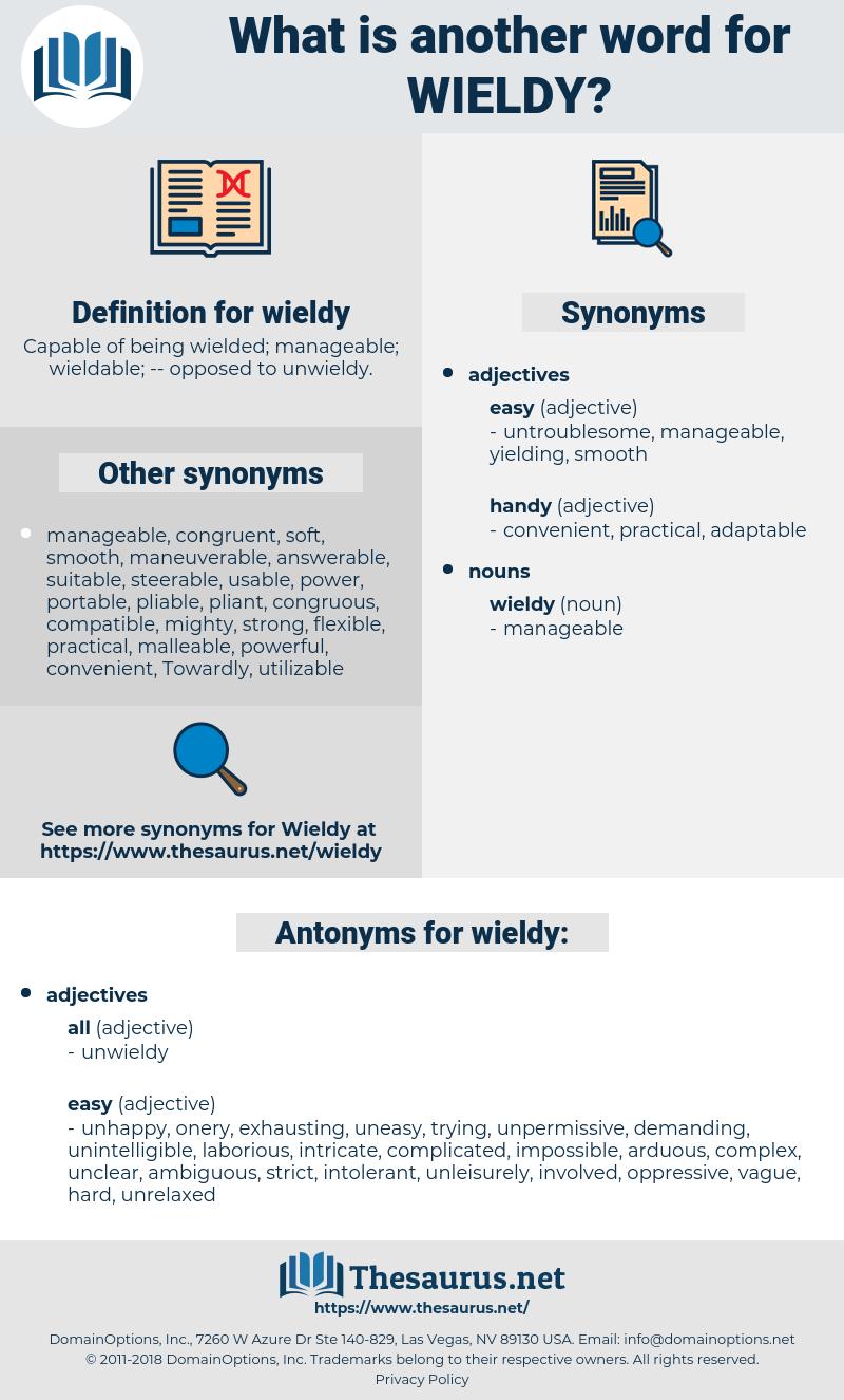 wieldy, synonym wieldy, another word for wieldy, words like wieldy, thesaurus wieldy