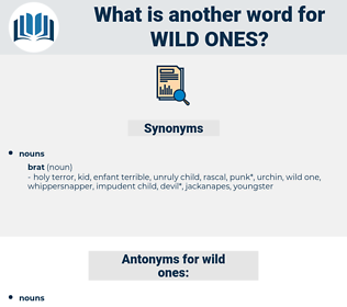 wild ones, synonym wild ones, another word for wild ones, words like wild ones, thesaurus wild ones