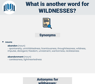 wildnesses, synonym wildnesses, another word for wildnesses, words like wildnesses, thesaurus wildnesses