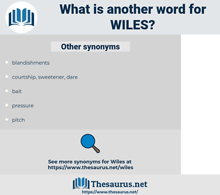 wiles, synonym wiles, another word for wiles, words like wiles, thesaurus wiles