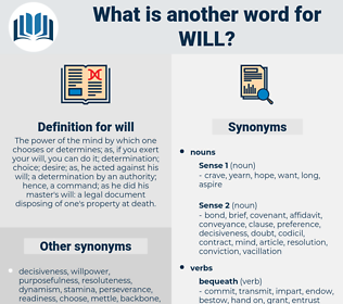 will, synonym will, another word for will, words like will, thesaurus will
