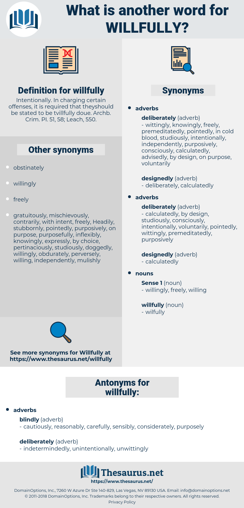 willfully, synonym willfully, another word for willfully, words like willfully, thesaurus willfully