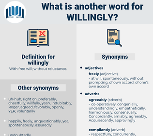 willingly, synonym willingly, another word for willingly, words like willingly, thesaurus willingly