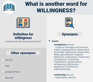 willingness, synonym willingness, another word for willingness, words like willingness, thesaurus willingness
