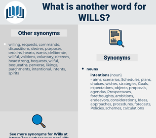 Wills, synonym Wills, another word for Wills, words like Wills, thesaurus Wills