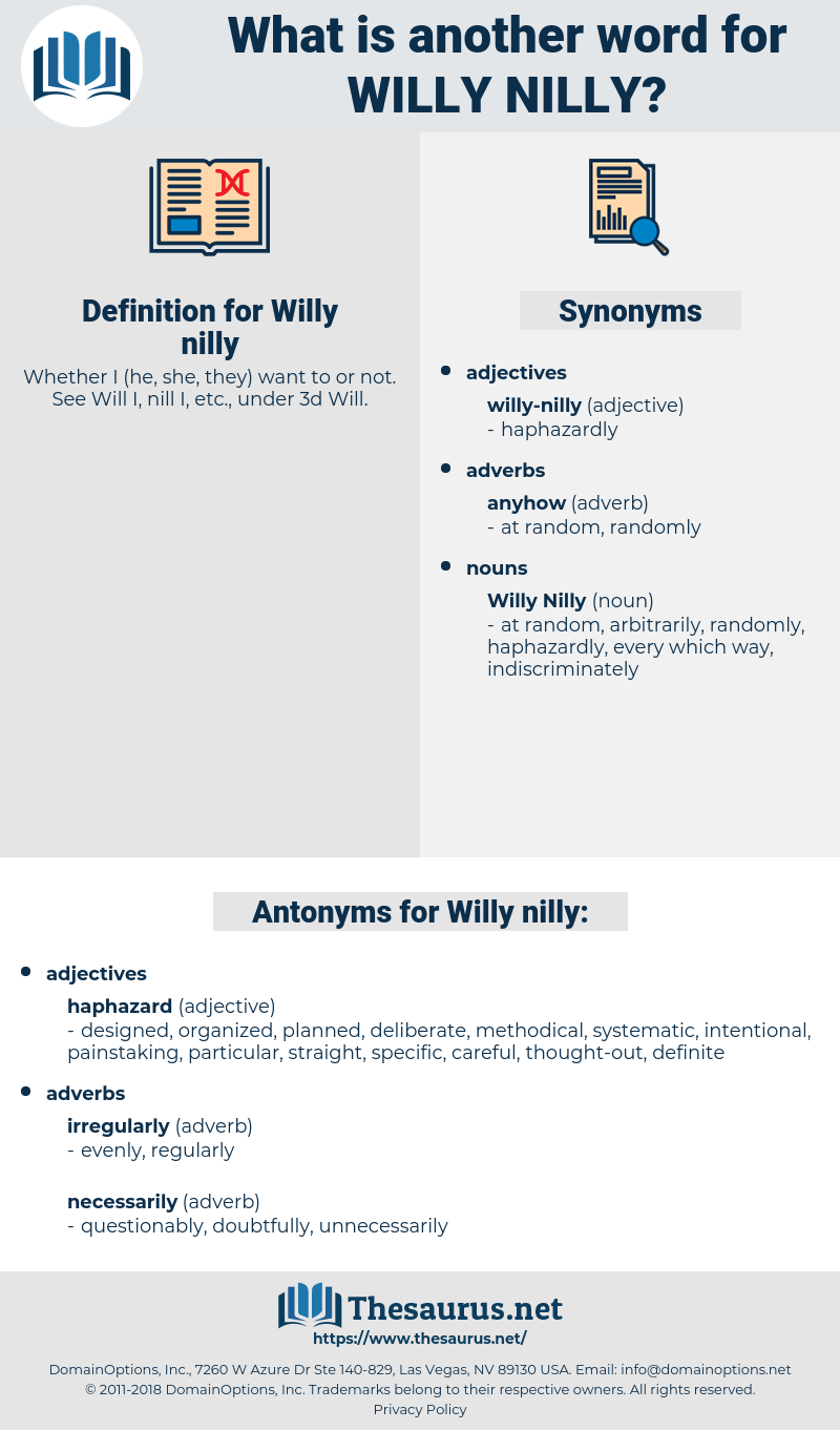 Willy nilly, synonym Willy nilly, another word for Willy nilly, words like Willy nilly, thesaurus Willy nilly