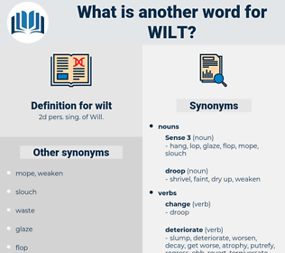 wilt, synonym wilt, another word for wilt, words like wilt, thesaurus wilt