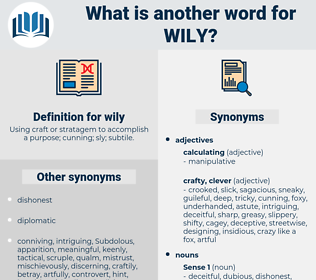 wily, synonym wily, another word for wily, words like wily, thesaurus wily