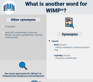 wimp, synonym wimp, another word for wimp, words like wimp, thesaurus wimp
