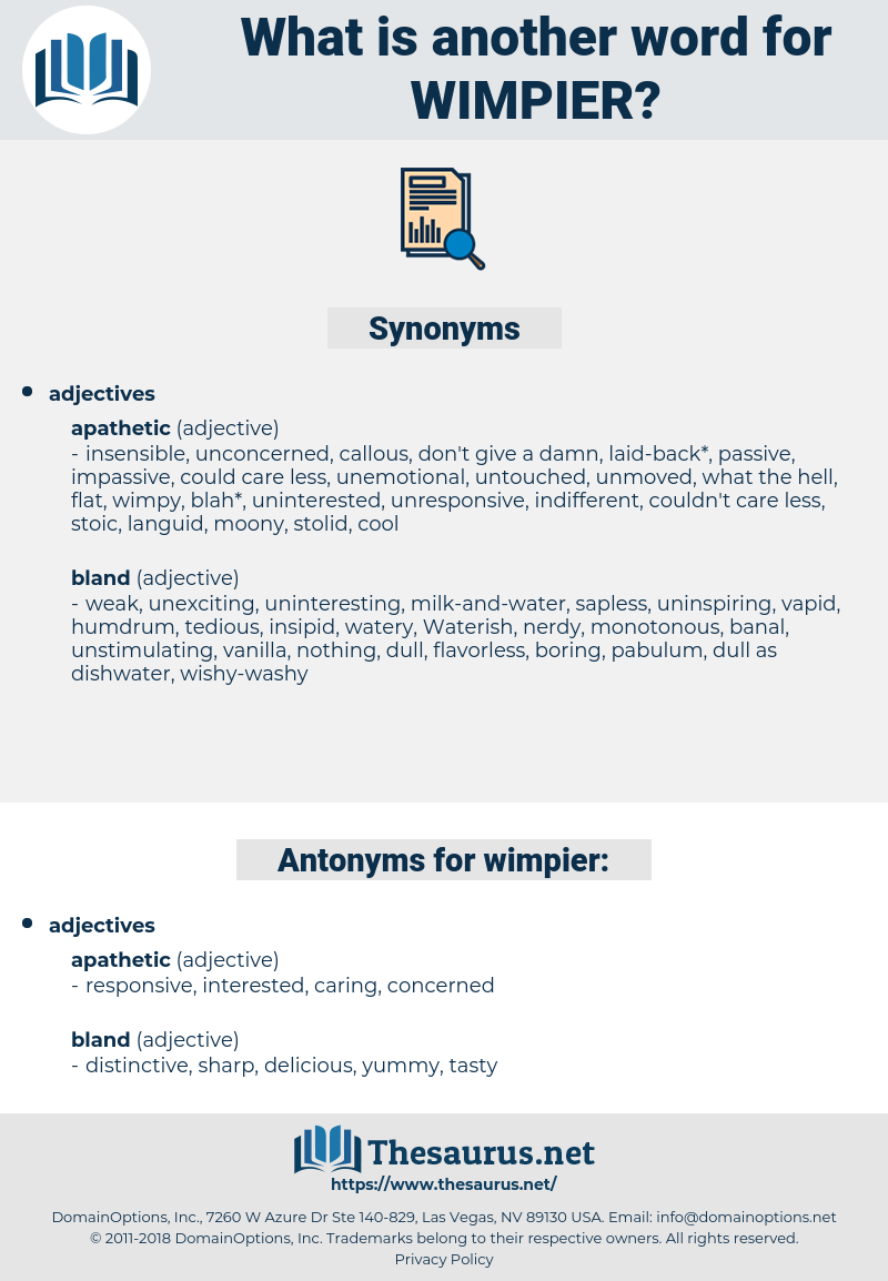 wimpier, synonym wimpier, another word for wimpier, words like wimpier, thesaurus wimpier
