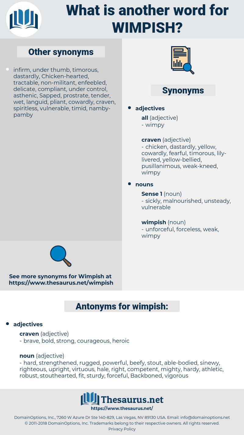 wimpish, synonym wimpish, another word for wimpish, words like wimpish, thesaurus wimpish
