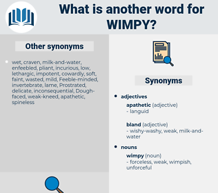 wimpy, synonym wimpy, another word for wimpy, words like wimpy, thesaurus wimpy