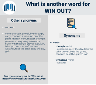 win out, synonym win out, another word for win out, words like win out, thesaurus win out