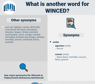 Winced, synonym Winced, another word for Winced, words like Winced, thesaurus Winced