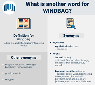 windbag, synonym windbag, another word for windbag, words like windbag, thesaurus windbag