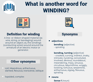 winding, synonym winding, another word for winding, words like winding, thesaurus winding