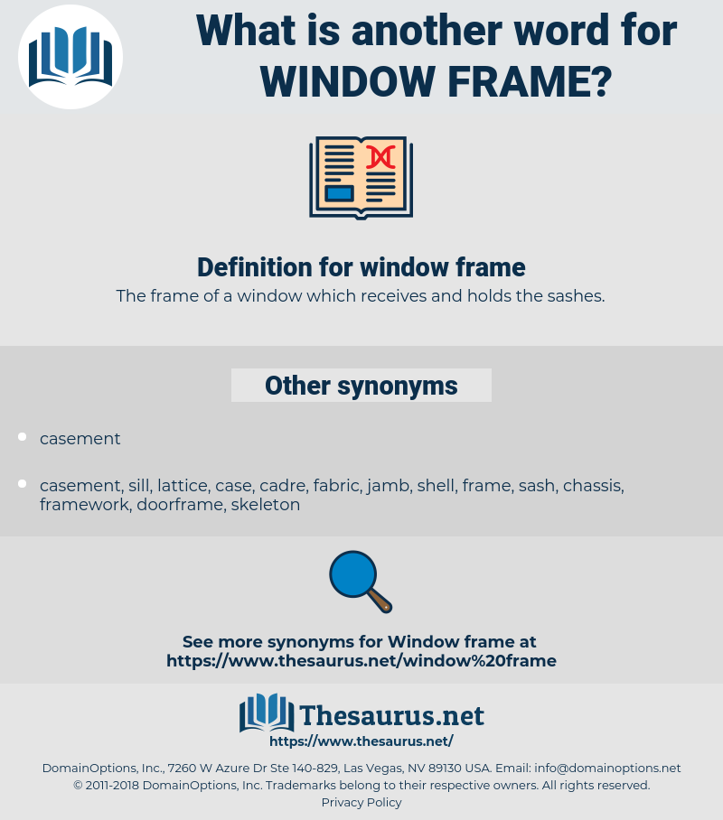 window frame, synonym window frame, another word for window frame, words like window frame, thesaurus window frame