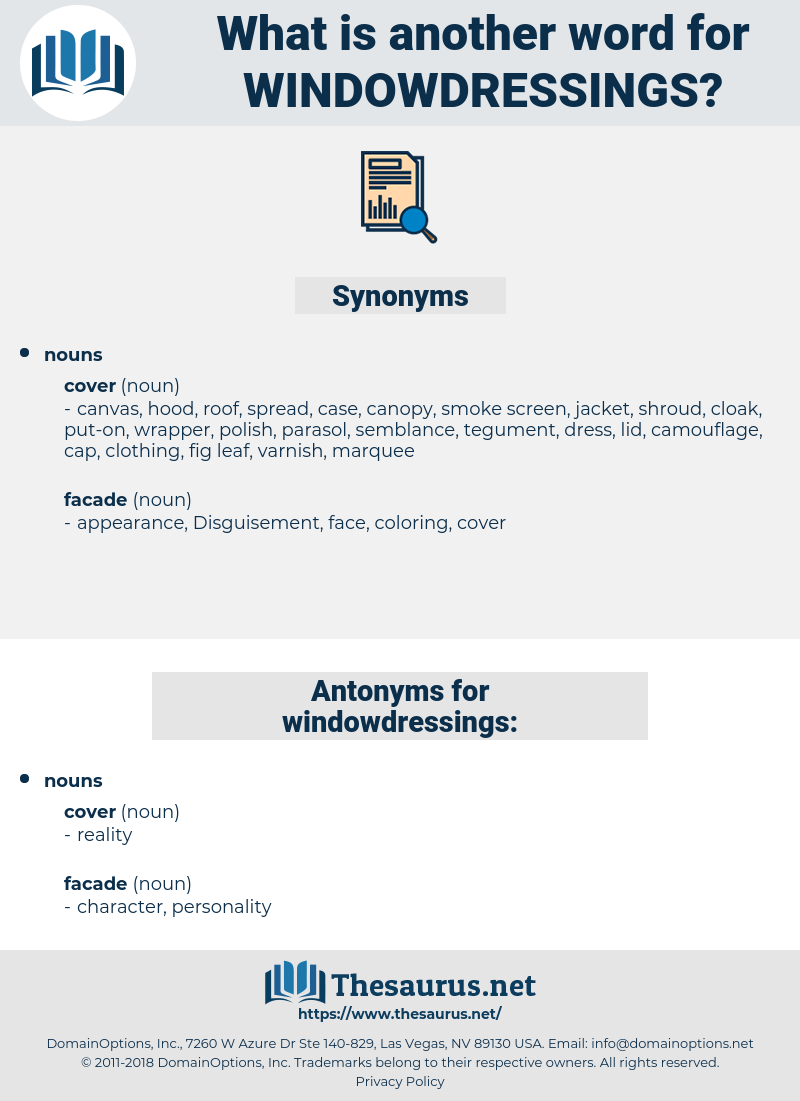windowdressings, synonym windowdressings, another word for windowdressings, words like windowdressings, thesaurus windowdressings