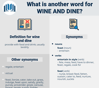 wine and dine, synonym wine and dine, another word for wine and dine, words like wine and dine, thesaurus wine and dine