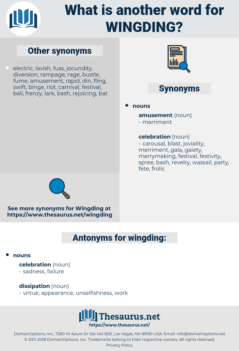 wingding, synonym wingding, another word for wingding, words like wingding, thesaurus wingding
