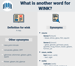 wink, synonym wink, another word for wink, words like wink, thesaurus wink