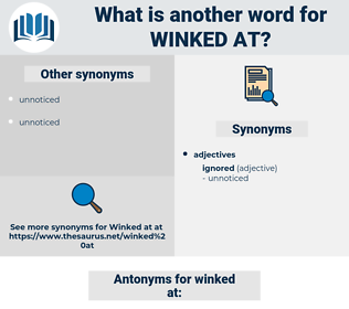winked at, synonym winked at, another word for winked at, words like winked at, thesaurus winked at