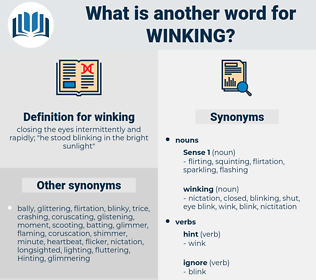 winking, synonym winking, another word for winking, words like winking, thesaurus winking