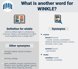 winkle, synonym winkle, another word for winkle, words like winkle, thesaurus winkle