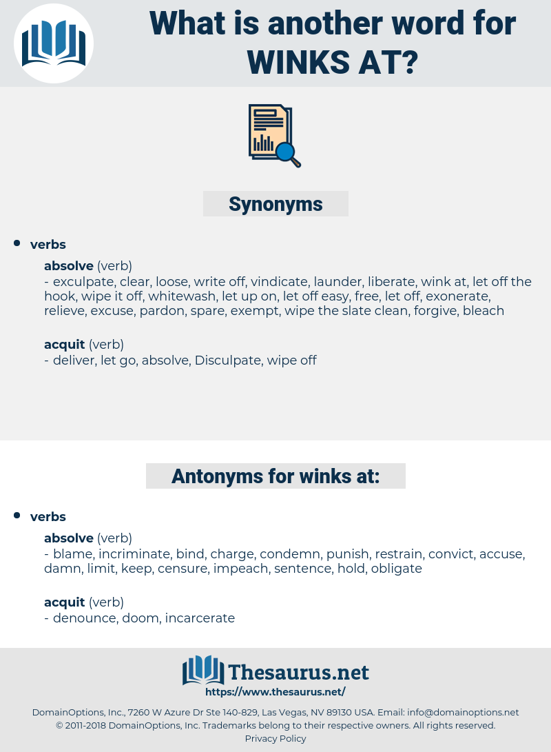 winks at, synonym winks at, another word for winks at, words like winks at, thesaurus winks at