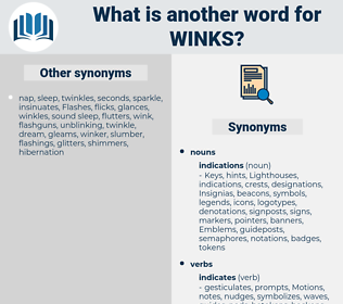 winks, synonym winks, another word for winks, words like winks, thesaurus winks