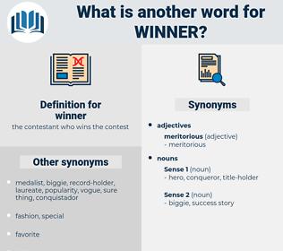 winner, synonym winner, another word for winner, words like winner, thesaurus winner