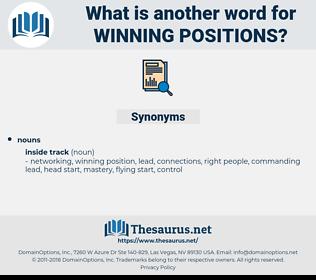 winning positions, synonym winning positions, another word for winning positions, words like winning positions, thesaurus winning positions