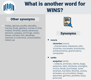 wins, synonym wins, another word for wins, words like wins, thesaurus wins