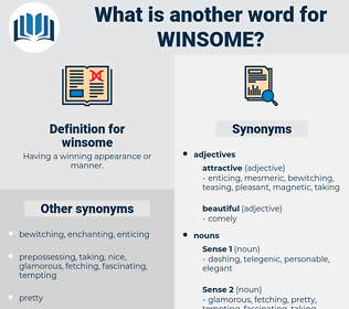 winsome, synonym winsome, another word for winsome, words like winsome, thesaurus winsome