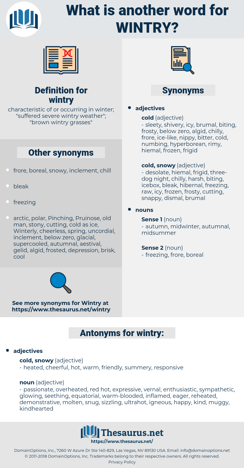 wintry, synonym wintry, another word for wintry, words like wintry, thesaurus wintry