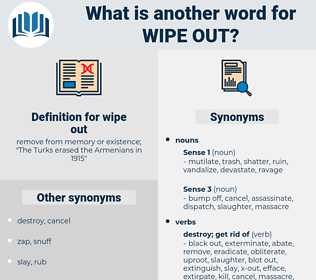 wipe out, synonym wipe out, another word for wipe out, words like wipe out, thesaurus wipe out