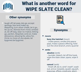 wipe slate clean, synonym wipe slate clean, another word for wipe slate clean, words like wipe slate clean, thesaurus wipe slate clean