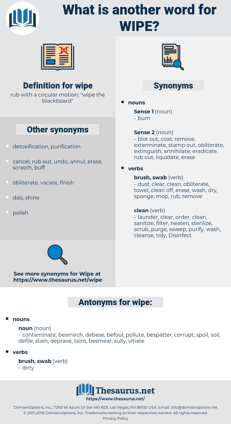 wipe, synonym wipe, another word for wipe, words like wipe, thesaurus wipe