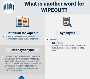 wipeout, synonym wipeout, another word for wipeout, words like wipeout, thesaurus wipeout