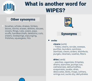 wipes, synonym wipes, another word for wipes, words like wipes, thesaurus wipes